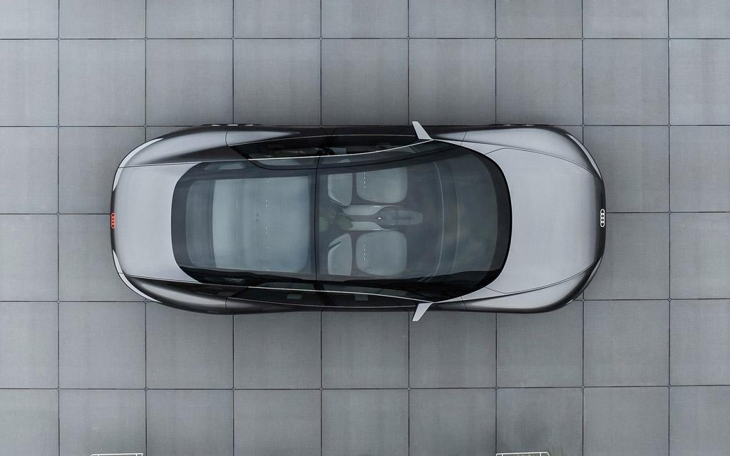 Audi Grandsphere Concept 2021, стеклянная крыша