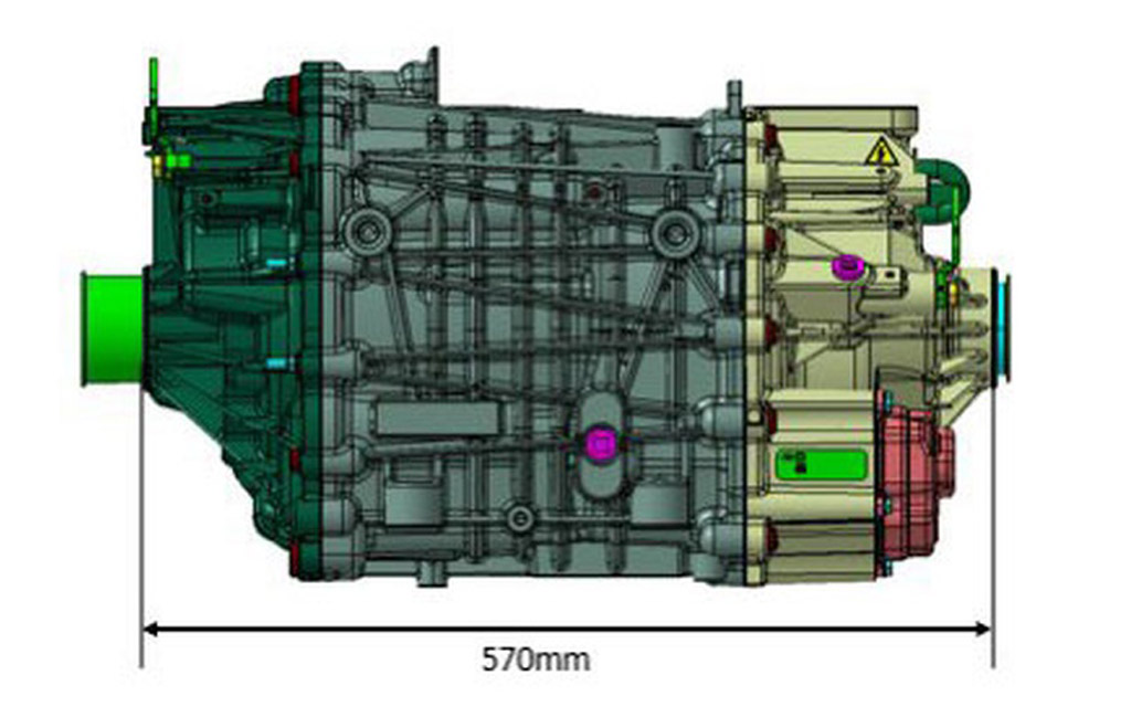 Длина электродвигателя от компании Форд