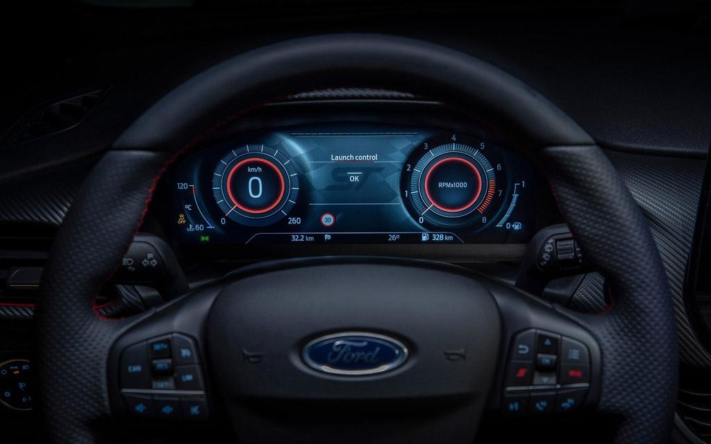 Ford Fiesta 2022, цифровая панель приборов