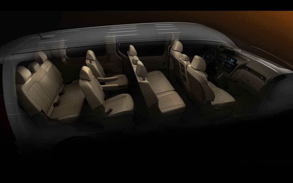 Hyundai Staria 2021, интерьер минивэна