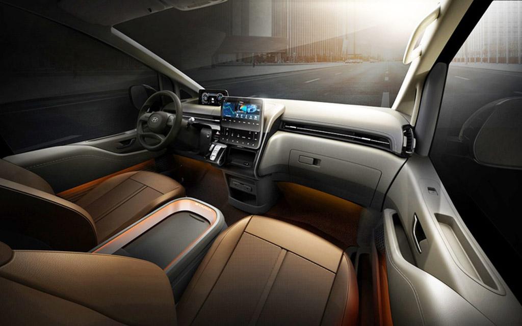 Hyundai Staria 2021, передняя панель