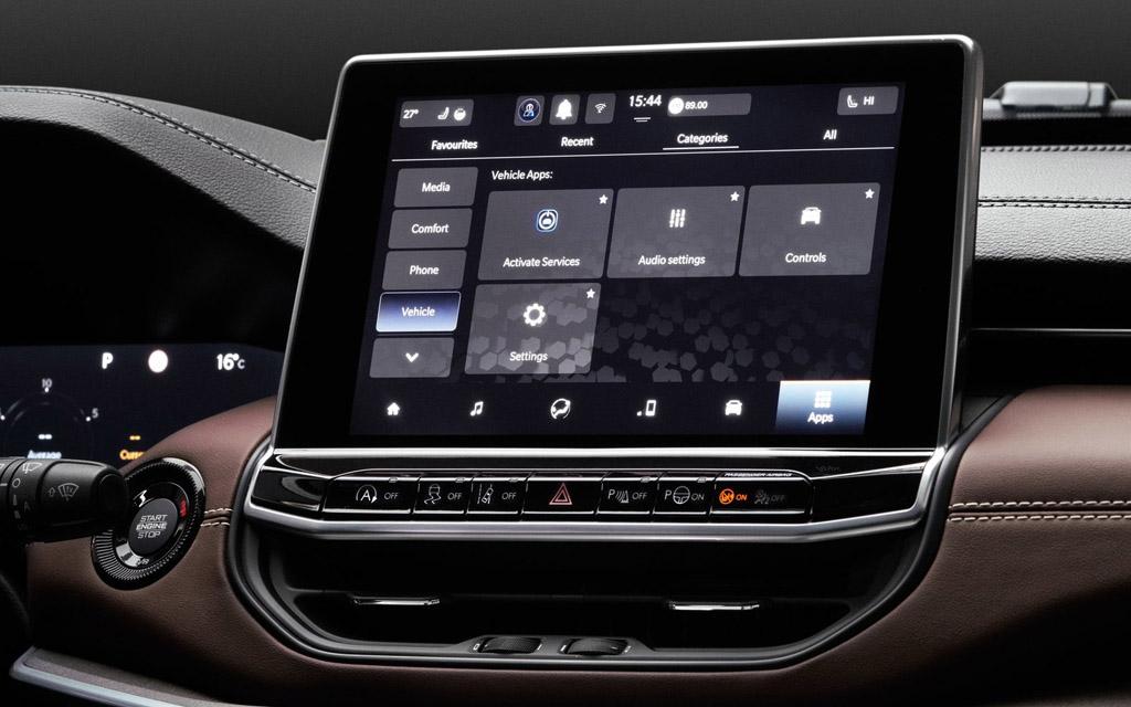 Jeep Compass 2022, дисплей мультимедийной системы