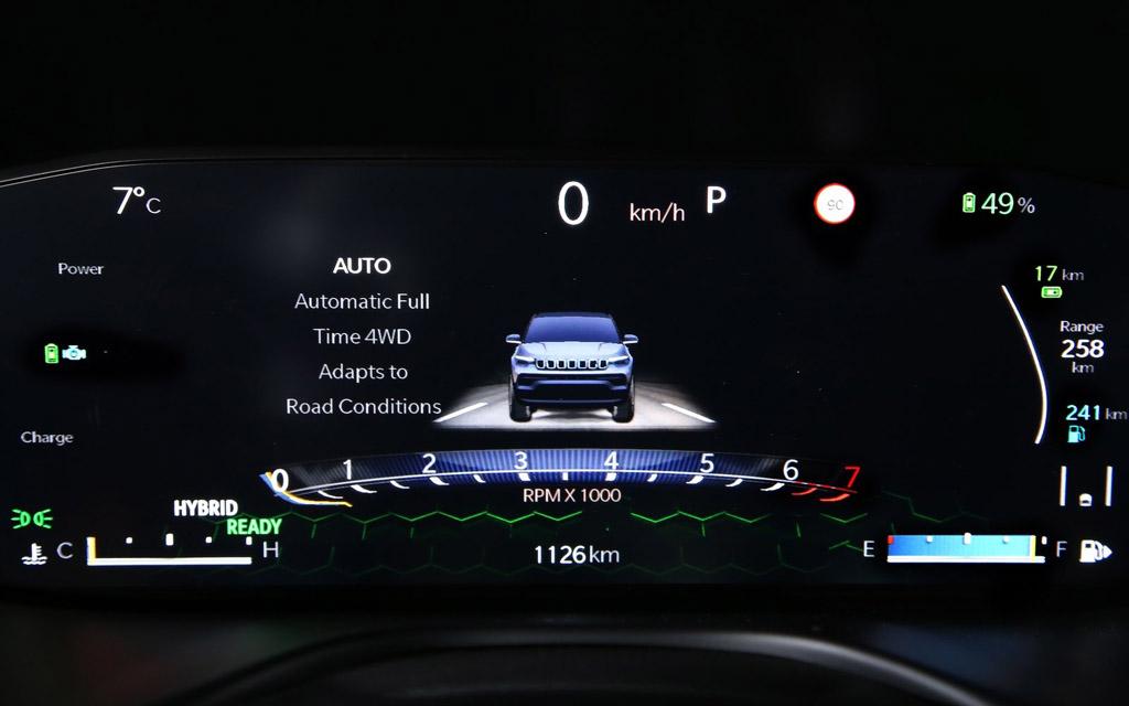Jeep Compass 2022, цифровая панель приборов