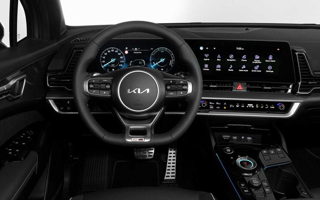 Kia Sportage GT-Line 2022 для Европы, передняя панель