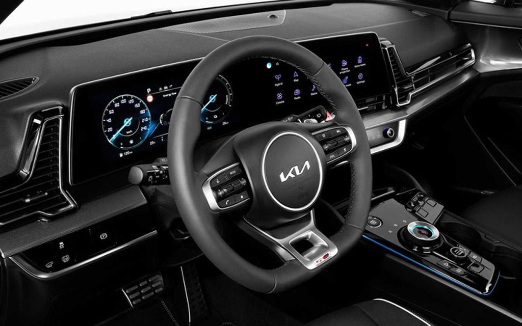 Kia Sportage GT-Line 2022 для Европы, рулевое колесо