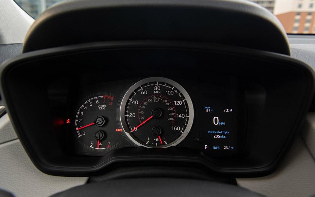 Toyota Corolla Cross 2021, панель приборов