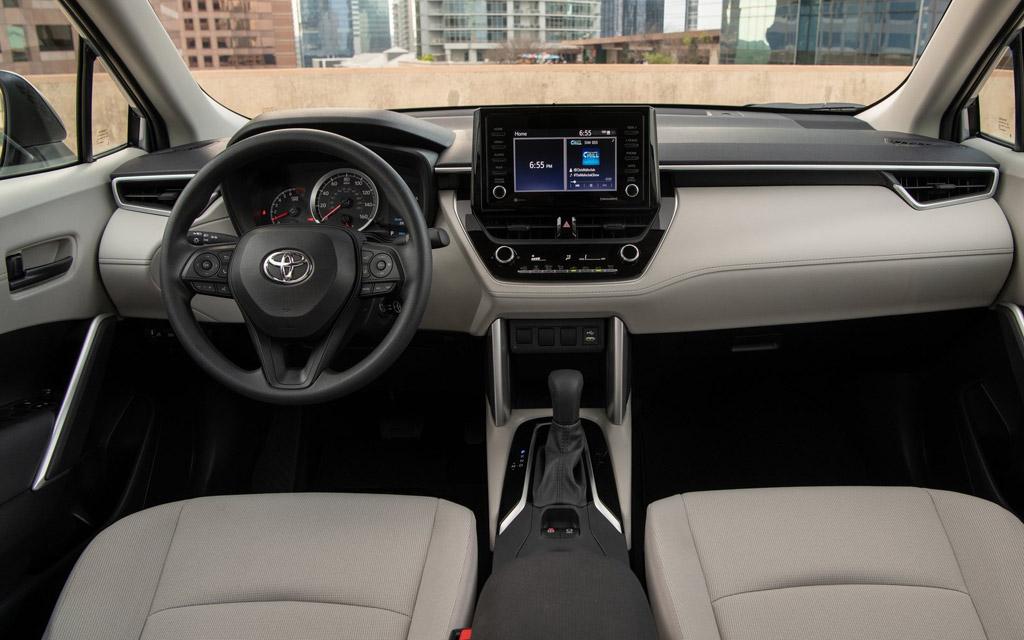 Toyota Corolla Cross 2021, передняя панель