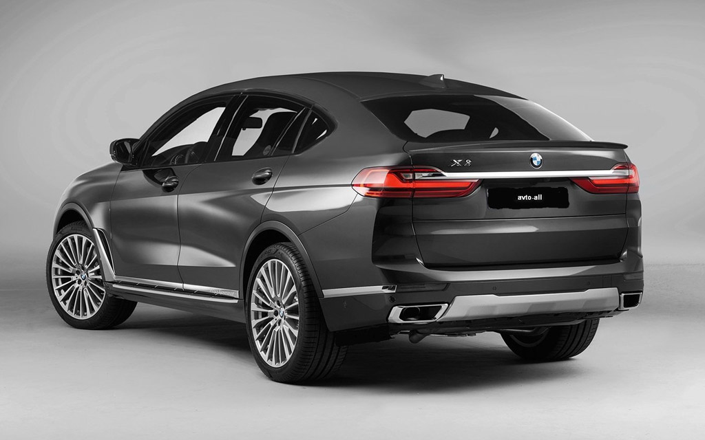 BMW X7 2021, кросс-купе вид сзади